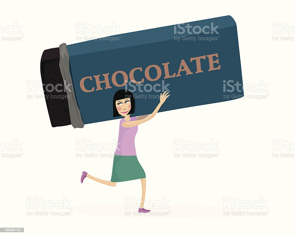 Chocolate Theif royalty-free stock vector art