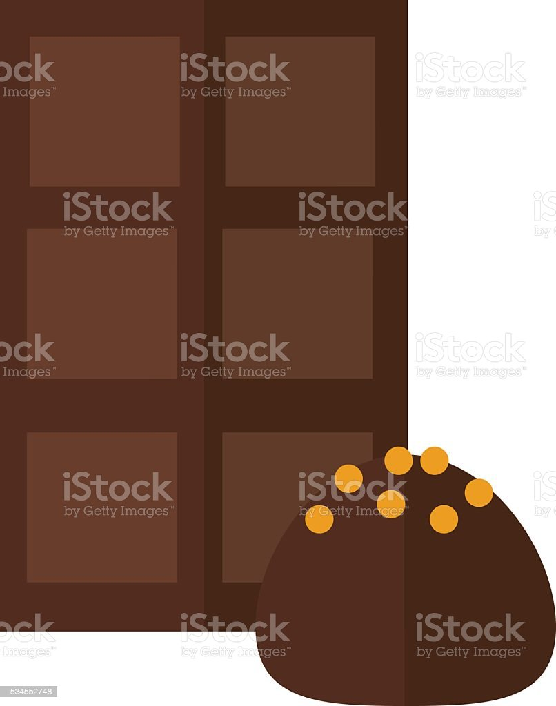 Chocolate truffle vector illustration. vector art illustration