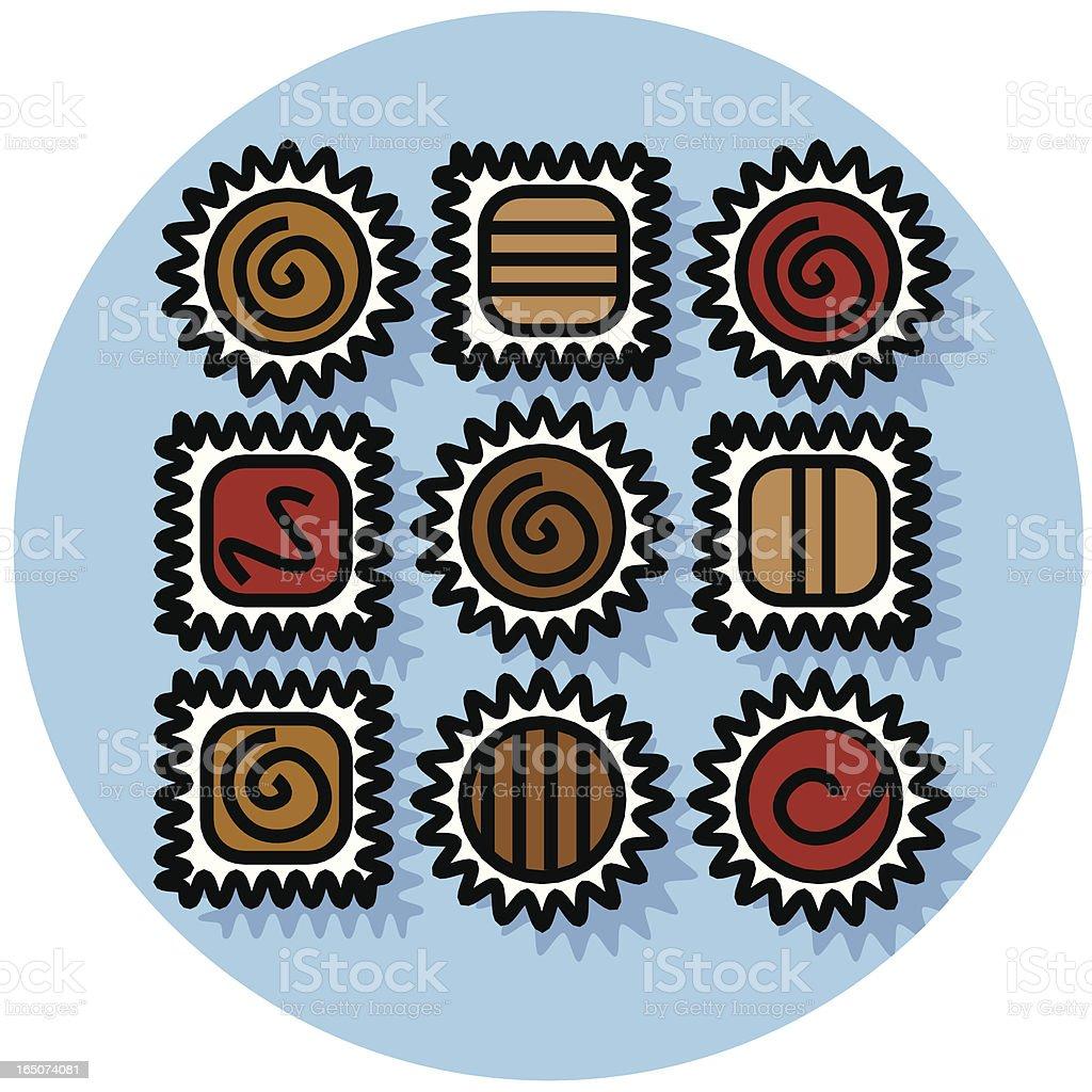 chocolates royalty-free stock vector art