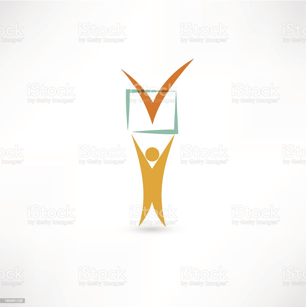 Choice icon royalty-free stock vector art
