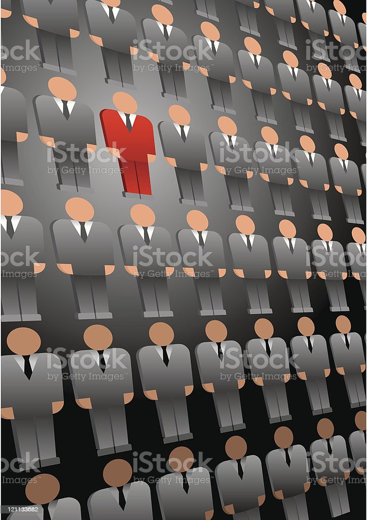 Choice of the person from group (CMYK) royalty-free stock vector art