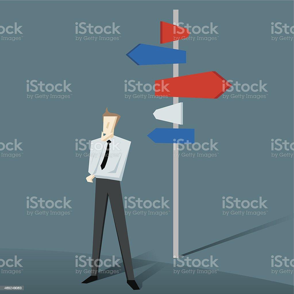 Choice vector art illustration