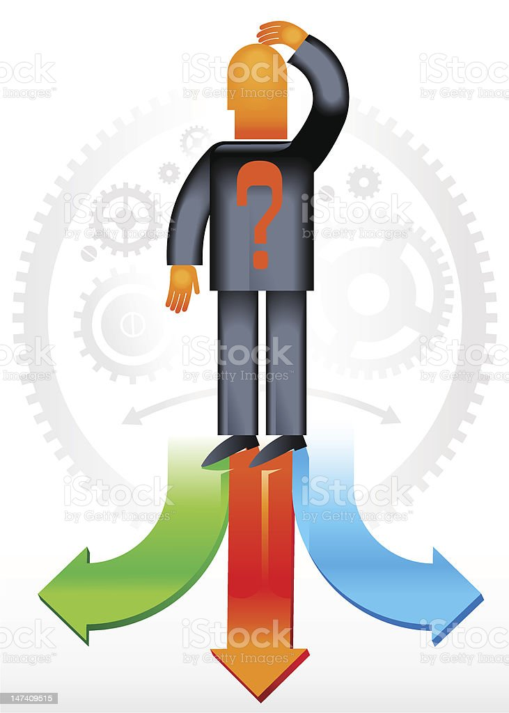 Choice_Direction royalty-free stock vector art