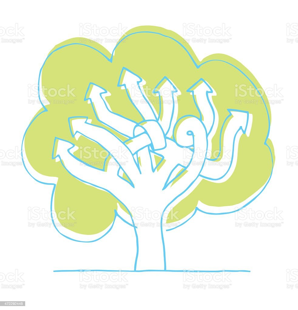 Choices / Planning tree royalty-free stock vector art