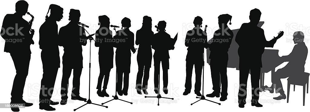 Choir vector art illustration