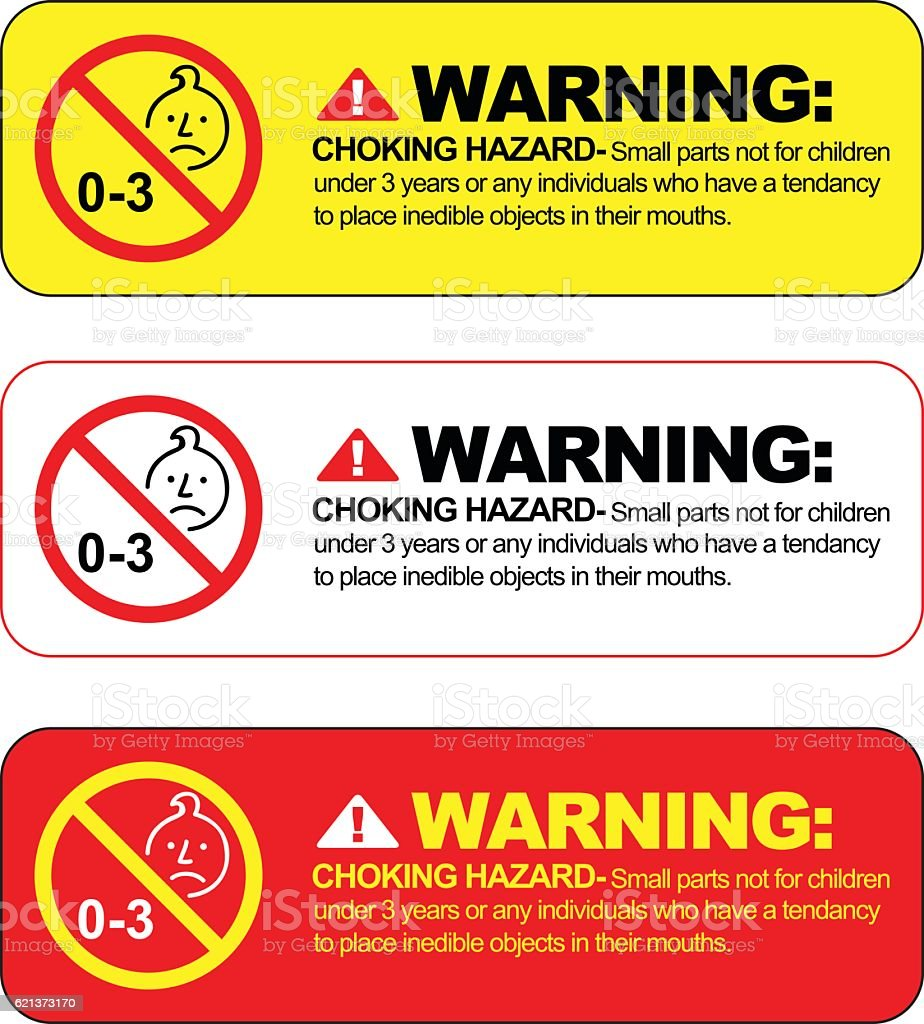 Choking Hazard Warning Vector Sign Stock Vector Art