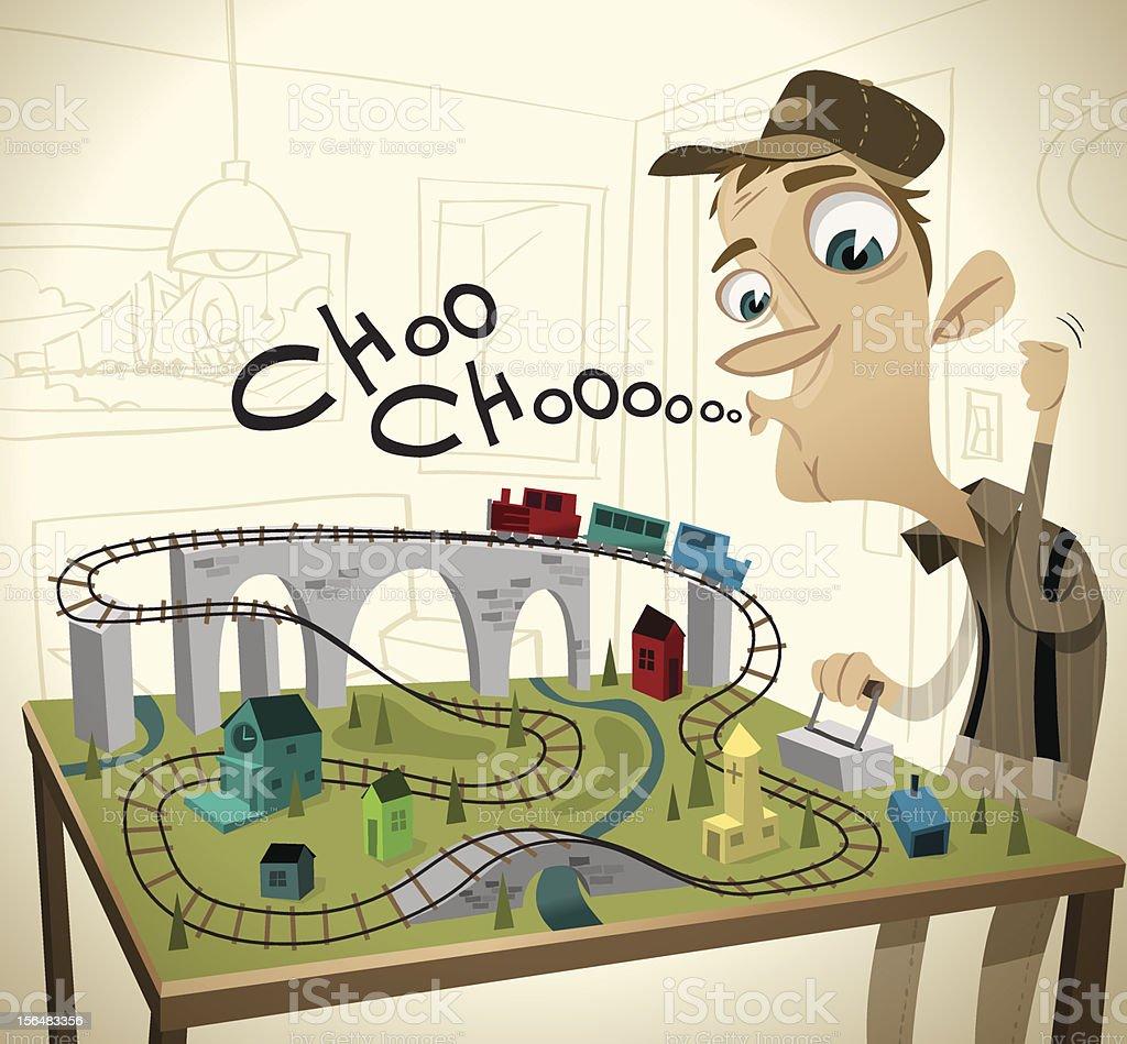 Choo Choooooooooooo vector art illustration