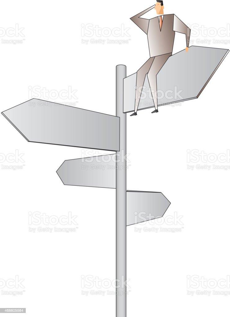 Choose the direction vector art illustration