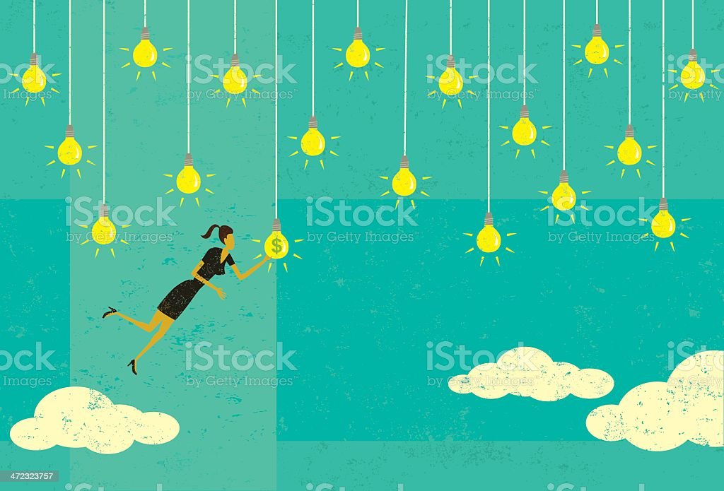 Choosing a profitable idea royalty-free stock vector art