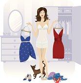 Choosing an outfit