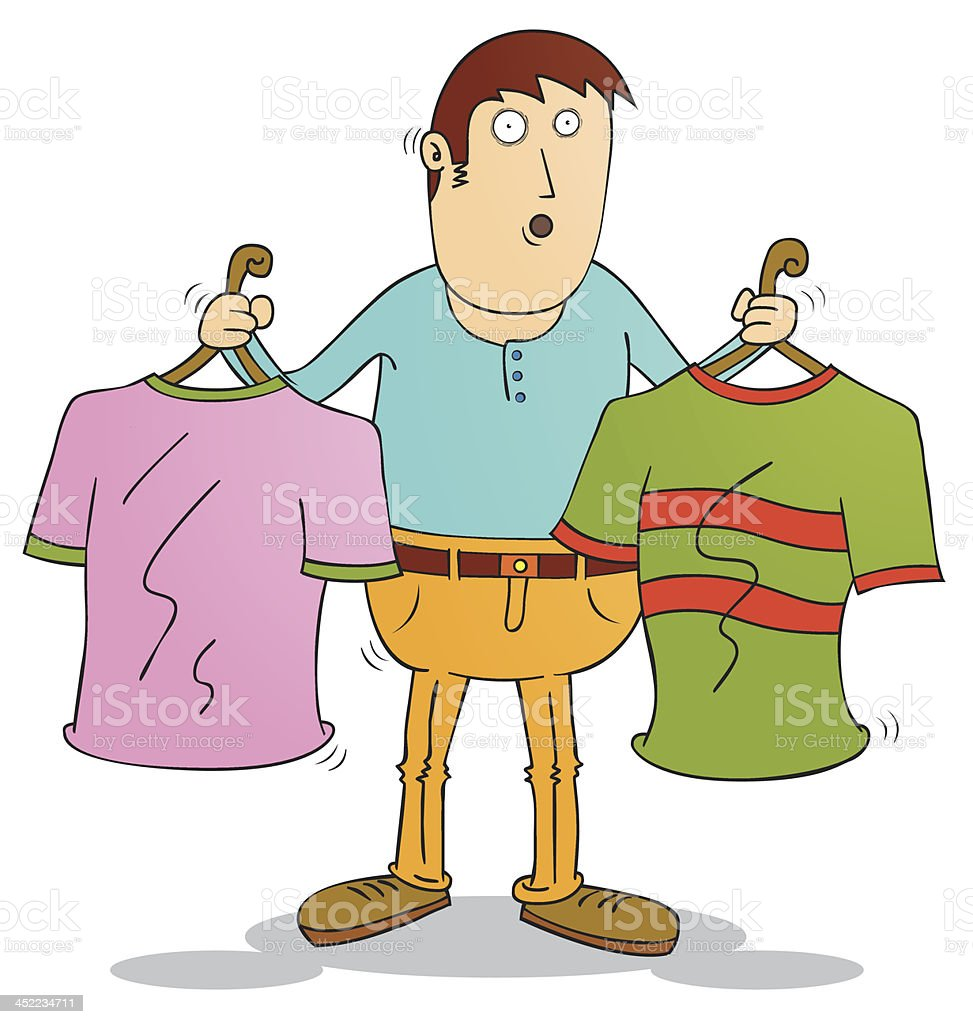 choosing clothes royalty-free stock vector art