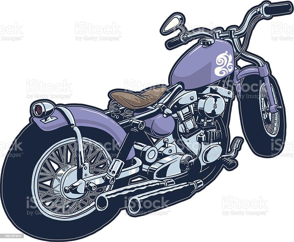 chopper bobber custom motorcycle royalty-free stock vector art