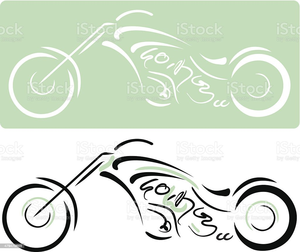 Chopper Motorcycle royalty-free stock vector art