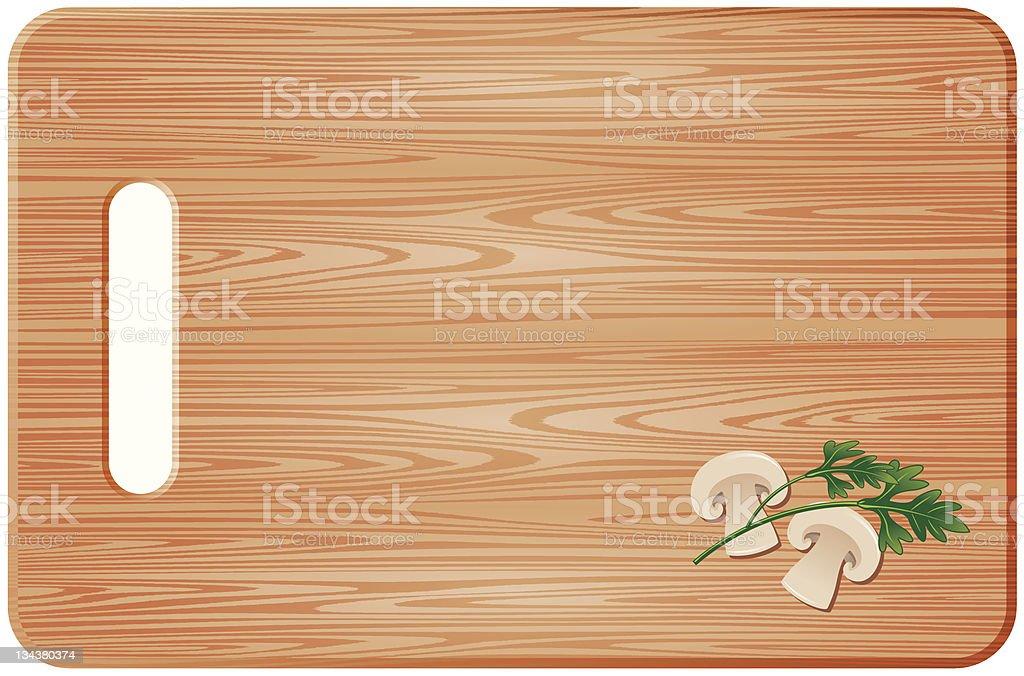 chopping board vector art illustration