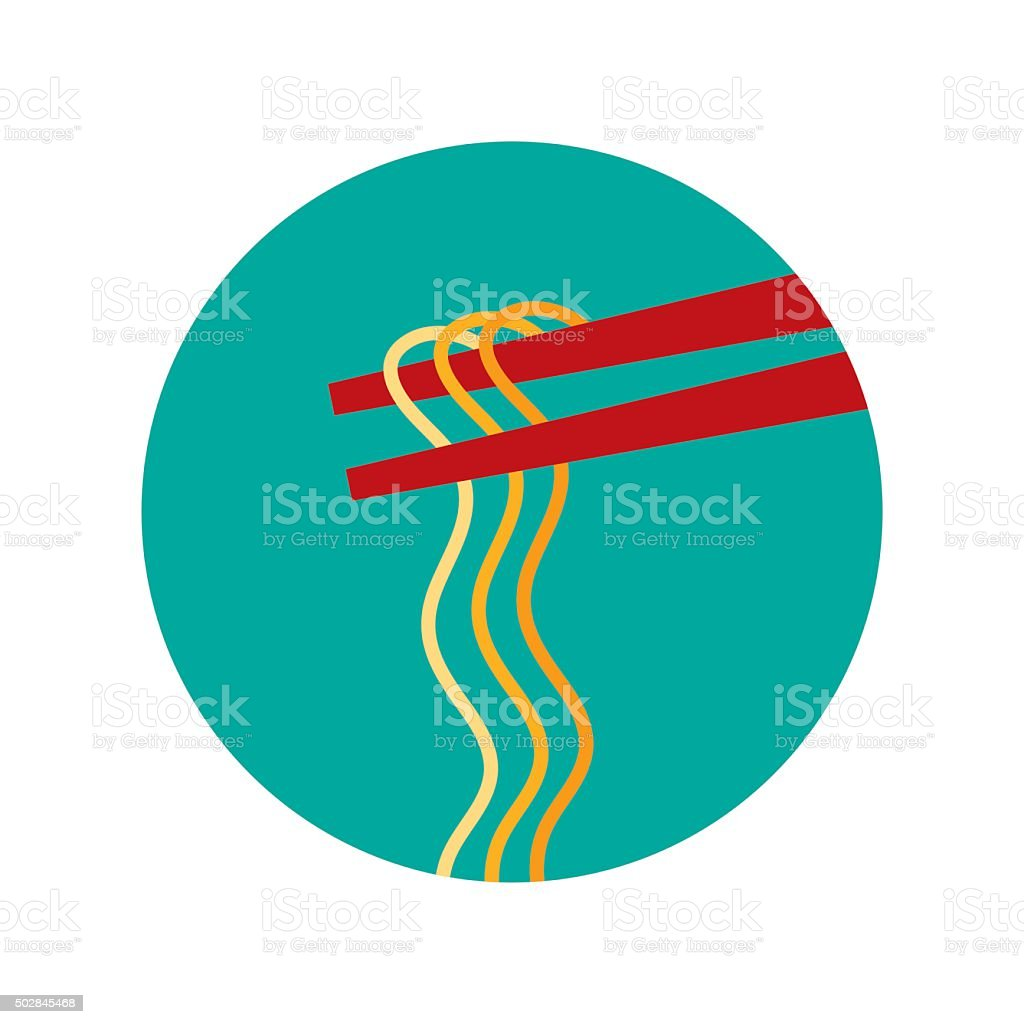 chopsticks vector vector art illustration