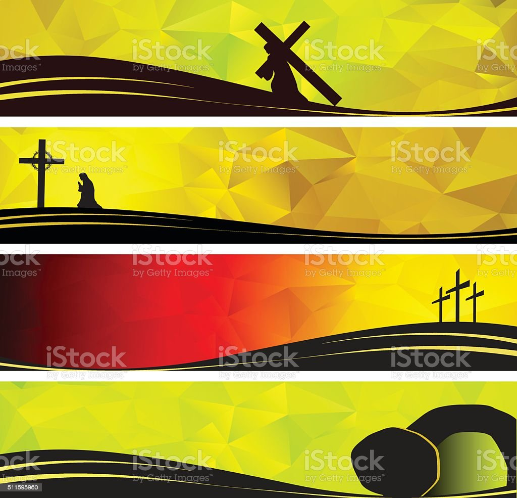 Christ Carrying the Cross vector art illustration
