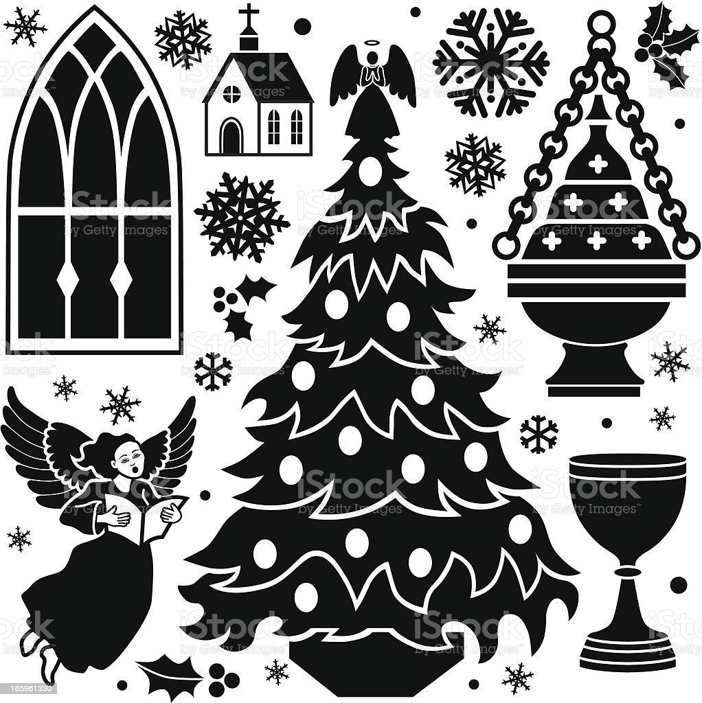 Christian Christmas design elements royalty-free stock vector art