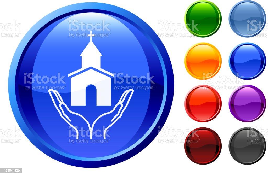 Christian church icon royalty-free stock vector art
