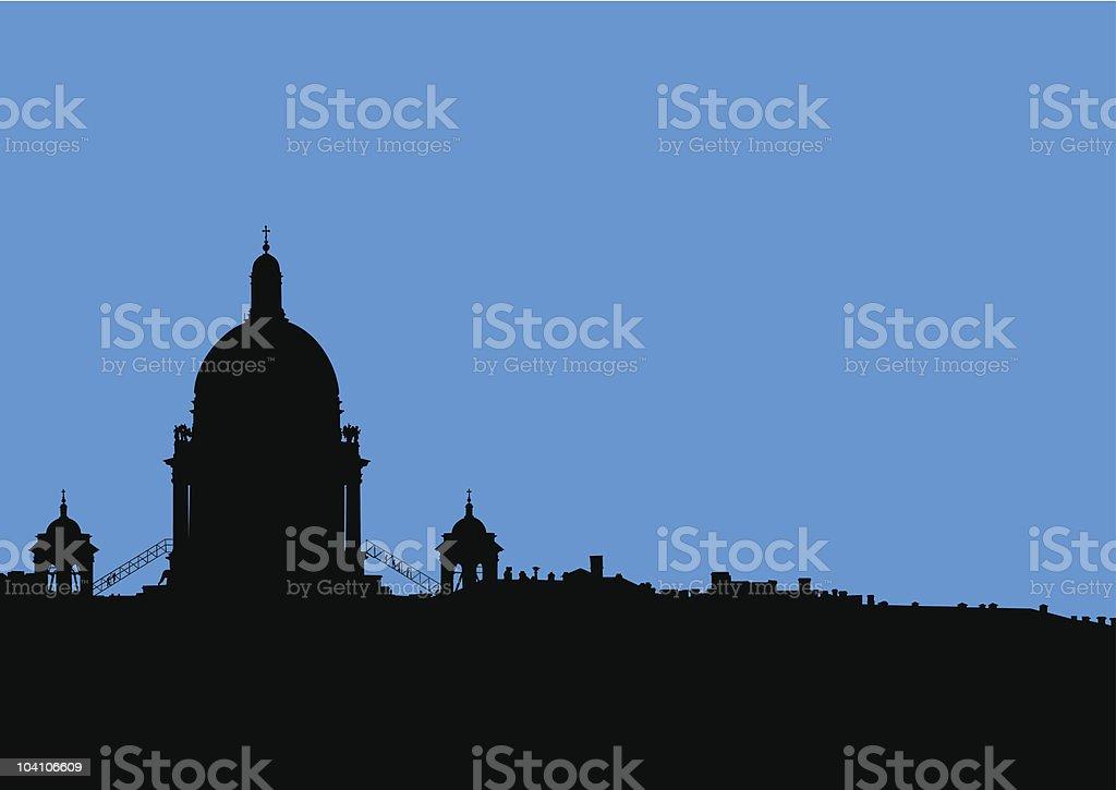 Christian church royalty-free stock vector art