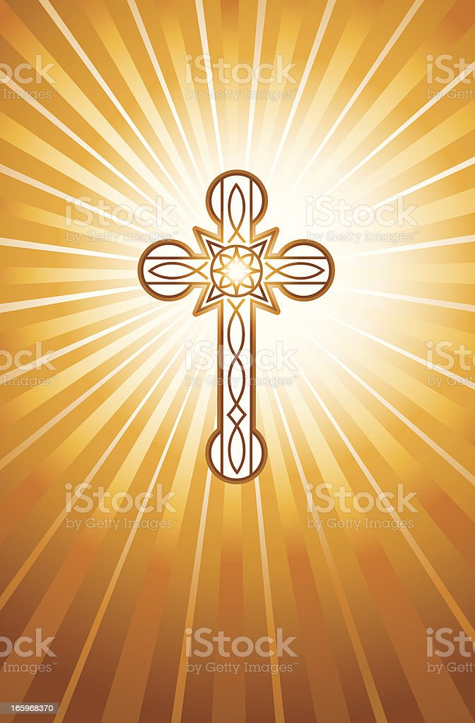 Christian Cross Background royalty-free stock vector art