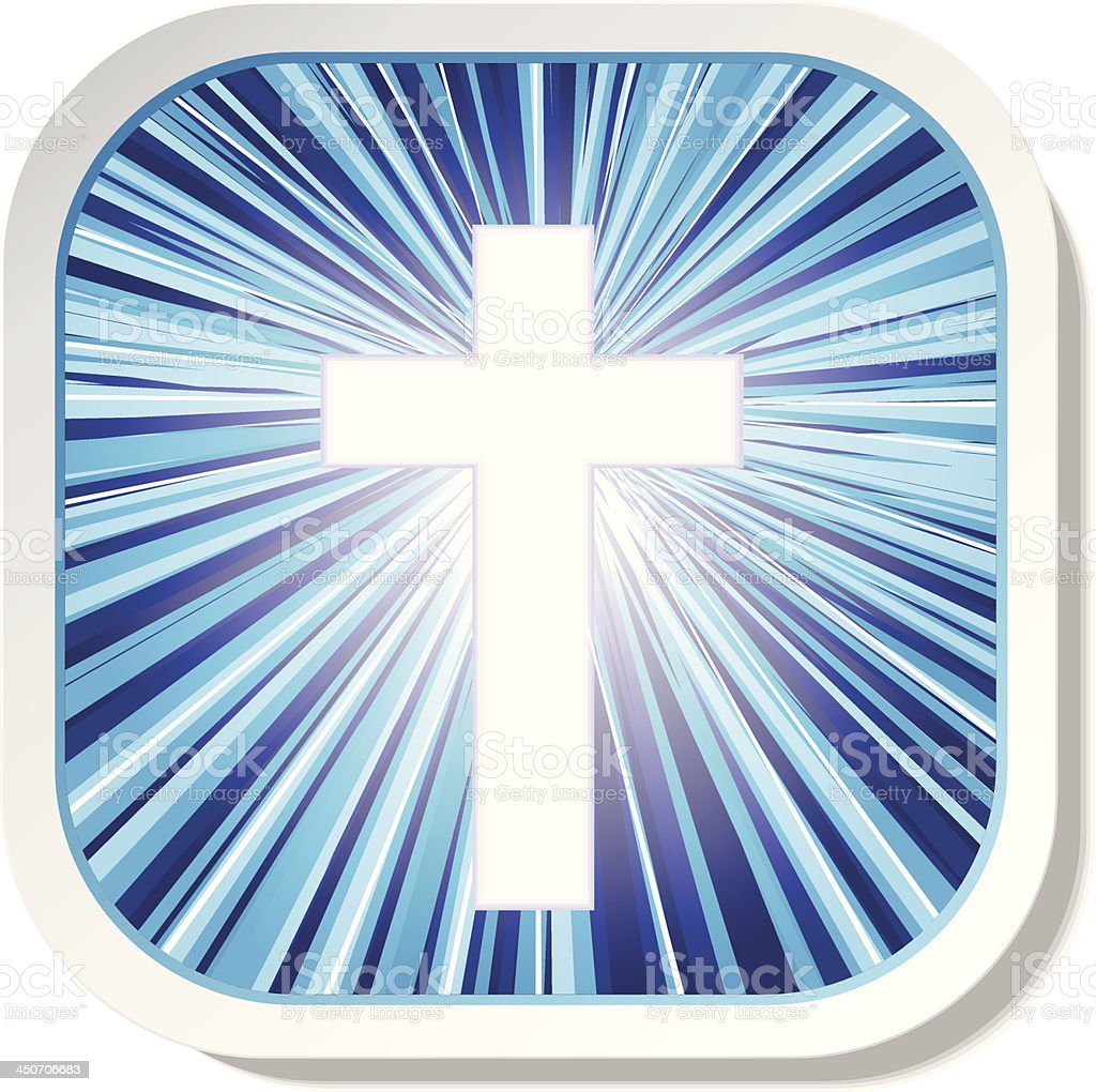 Christian cross icon royalty-free stock vector art