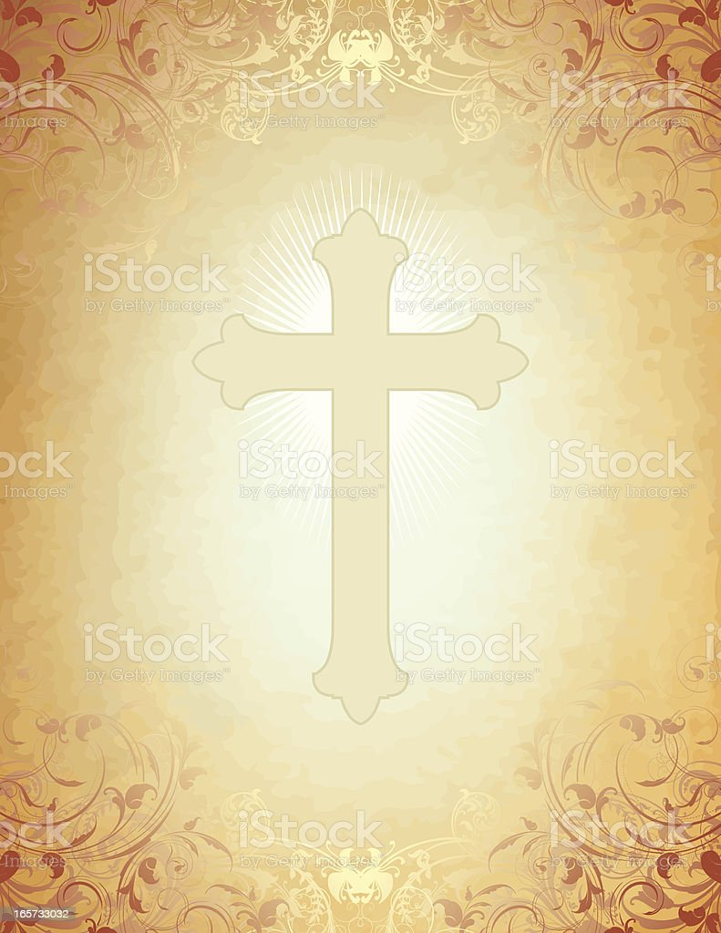 Christian Cross Parchment royalty-free stock vector art