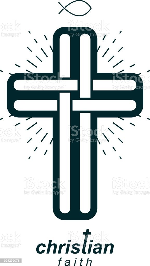 Christian Cross true belief vector religion symbol, Christianity...