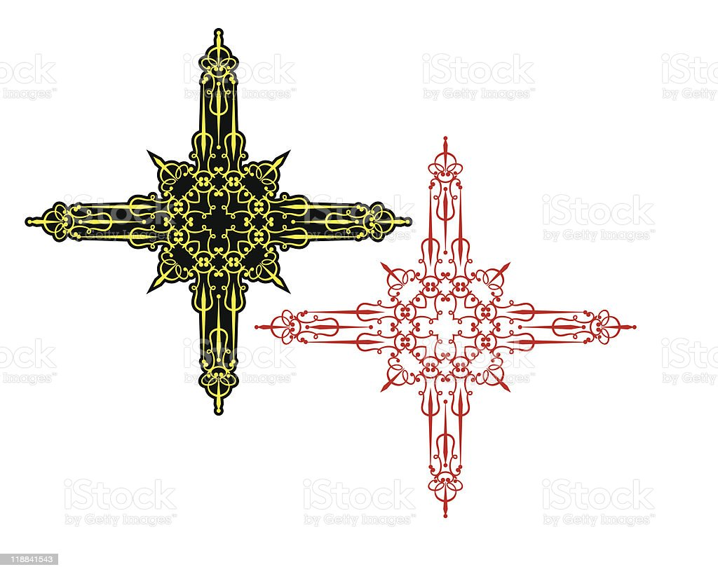 Christian Cross vector art illustration