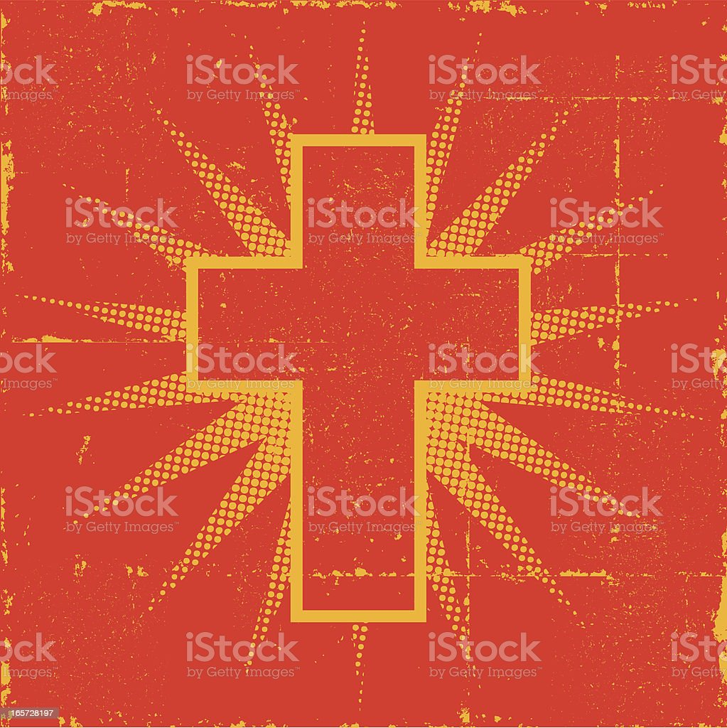 Christian Cross royalty-free stock vector art