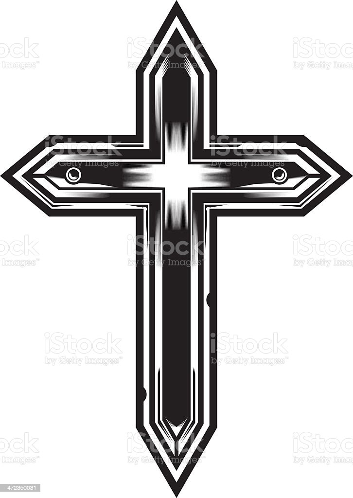 Christian Cross royalty-free stock vector art