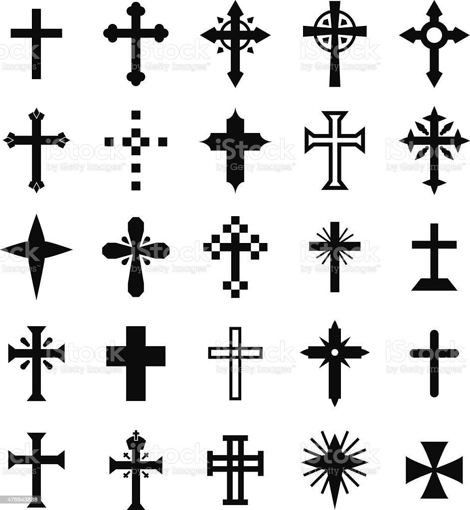 Christian Cross vector art illustration