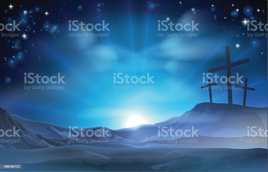 Christian Easter Illustration vector art illustration
