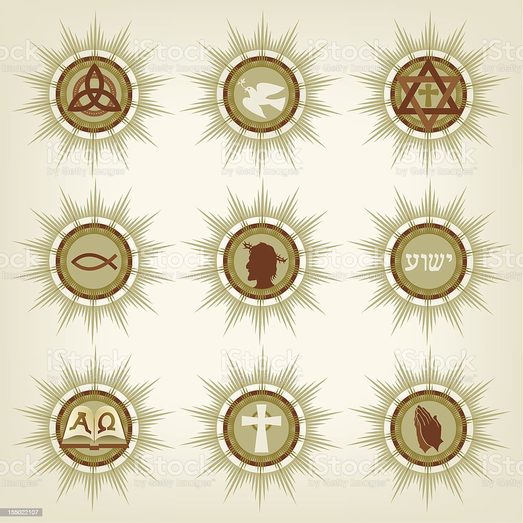 Christian Icons 救済者 royalty-free stock vector art