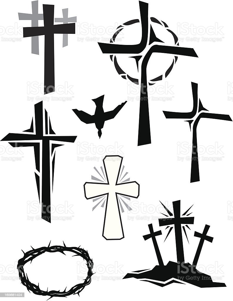 Christian Icons royalty-free stock vector art