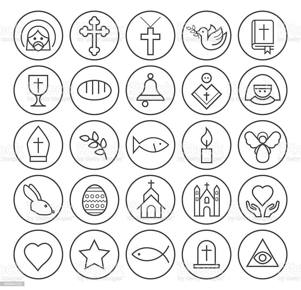 Christian Icons. vector art illustration