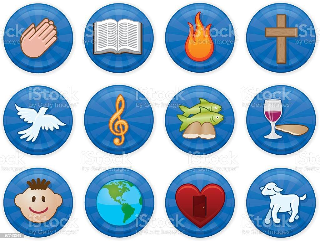 Christian Icons royalty-free stock vector art