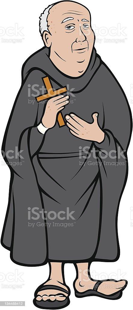 Christian monk royalty-free stock vector art