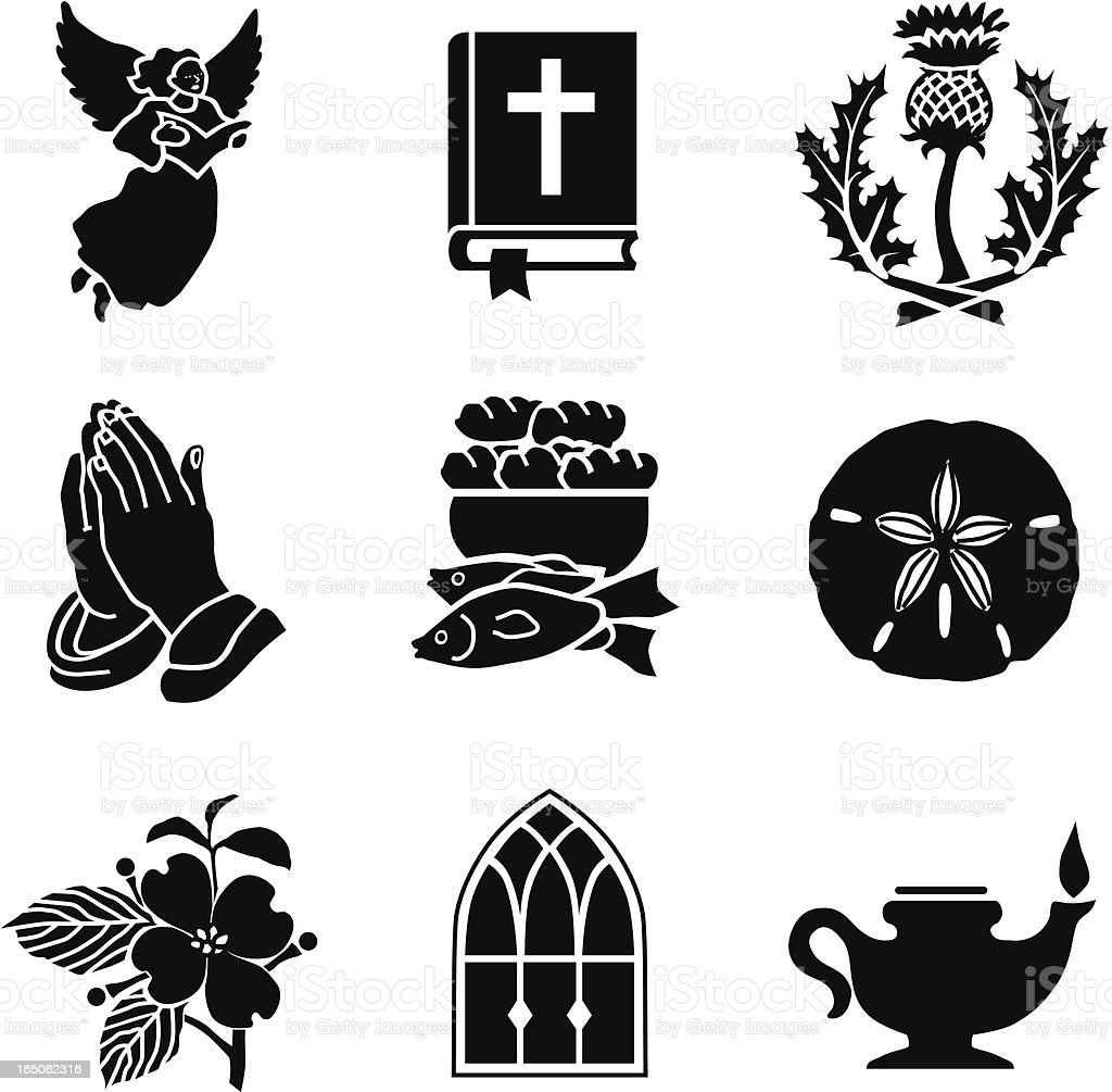 Christian symbols 01 vector art illustration