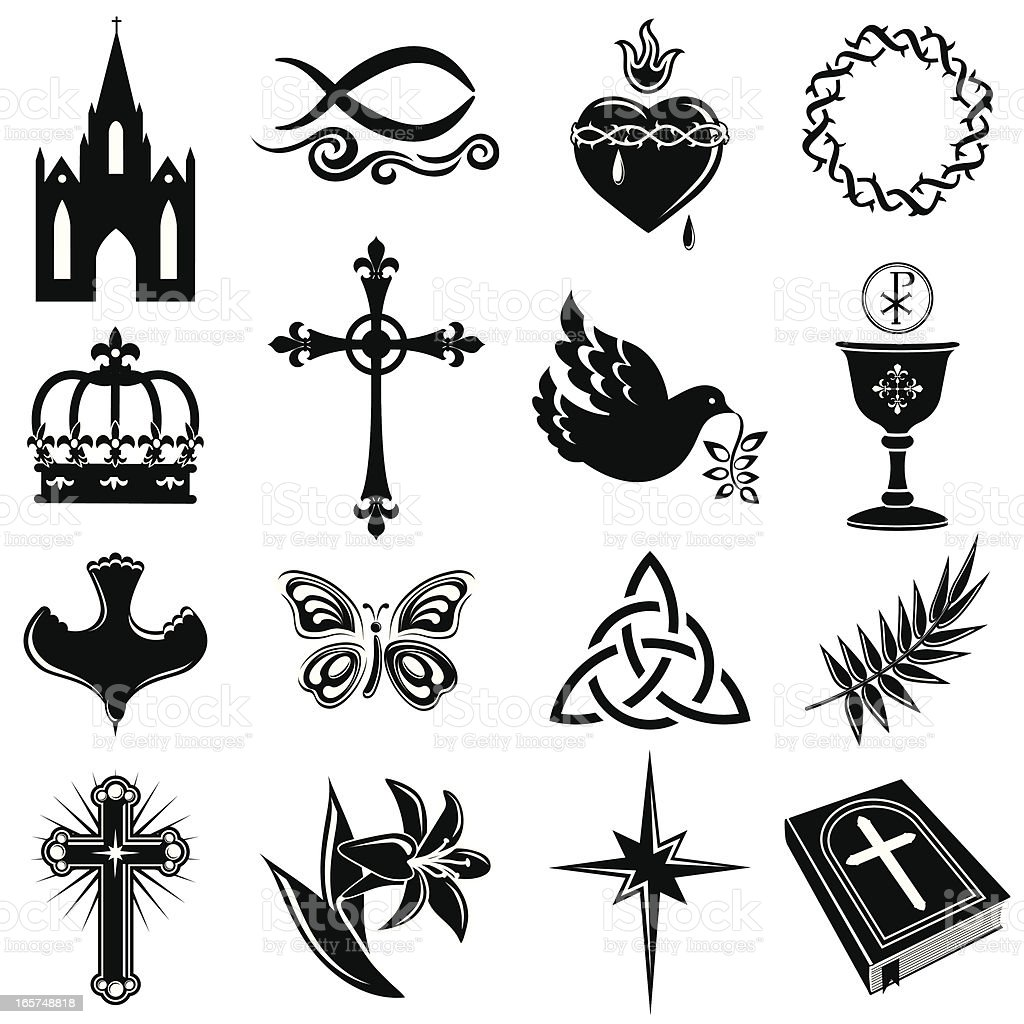 Christian Symbols royalty-free stock vector art