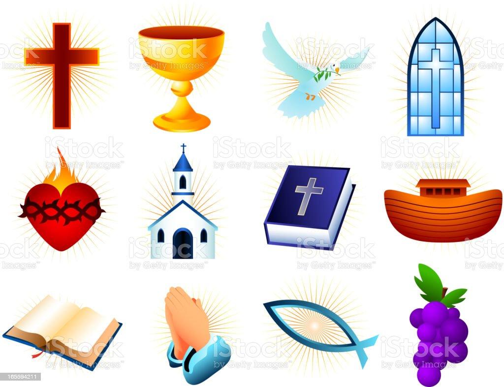 Christianity design elements vector art illustration