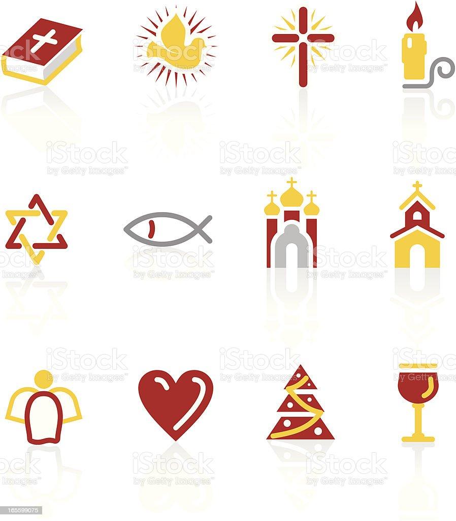 Christianity icon set vector art illustration