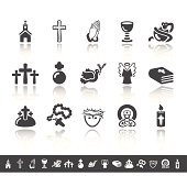 Christianity Icons | Simple Grey