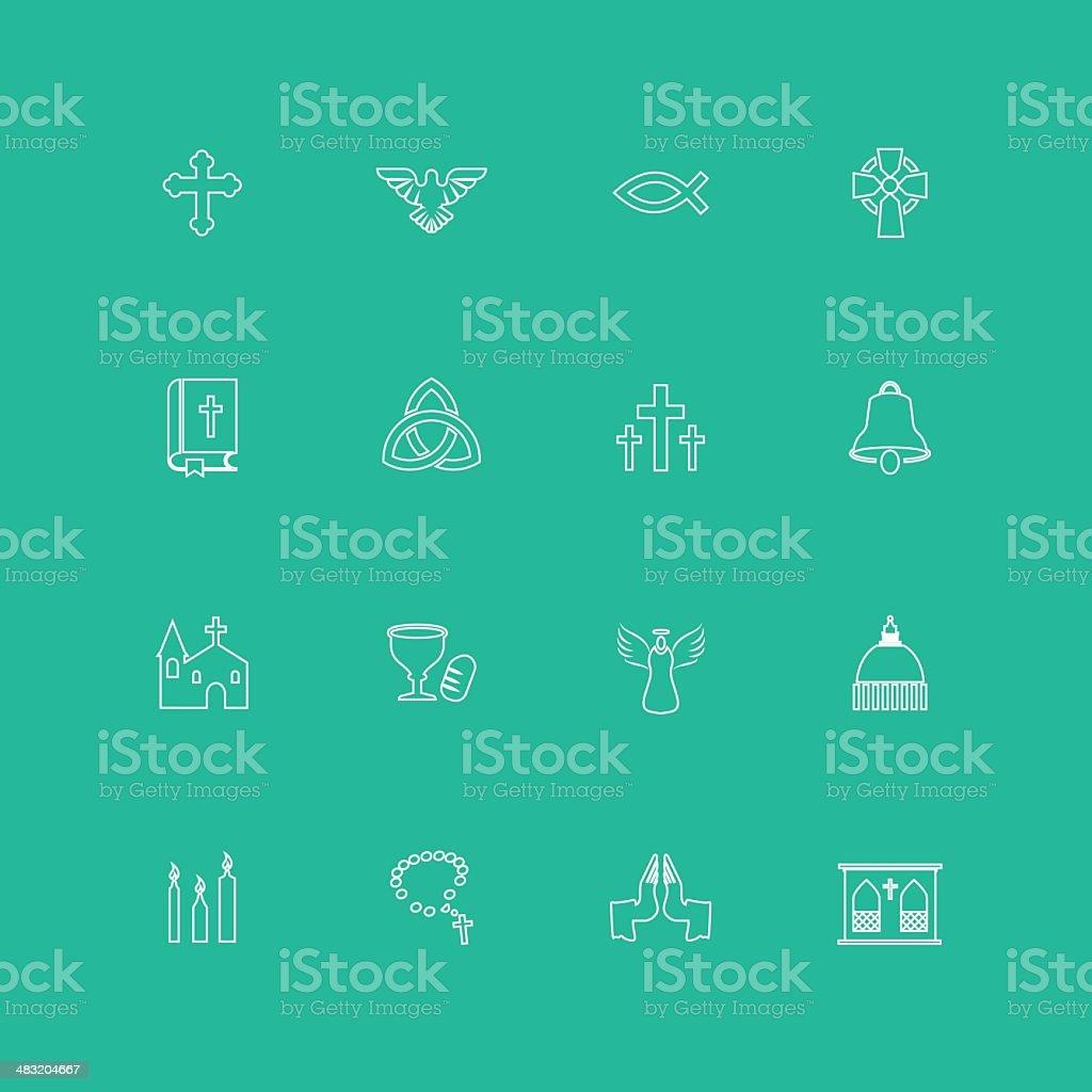 Christianity Icons vector art illustration