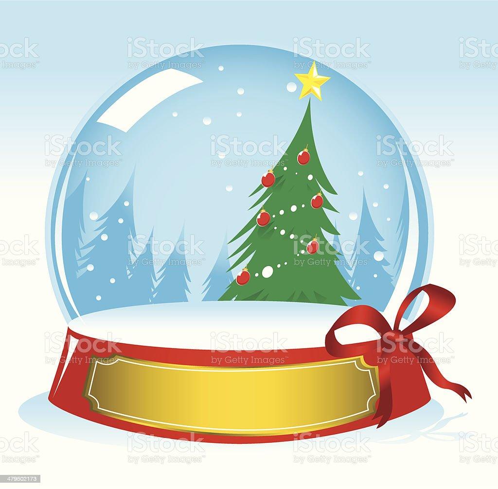 Christma Tree Snow Globe royalty-free stock vector art