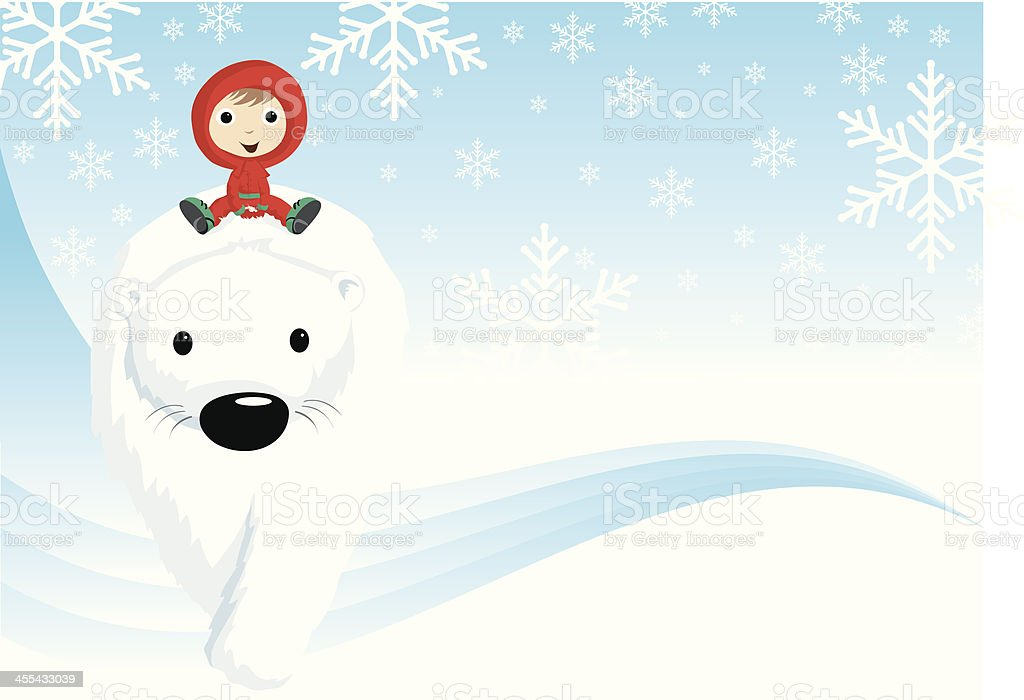Christmas adventure background royalty-free stock vector art