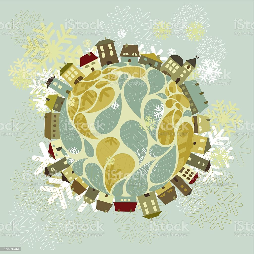 Christmas all over the world royalty-free stock vector art