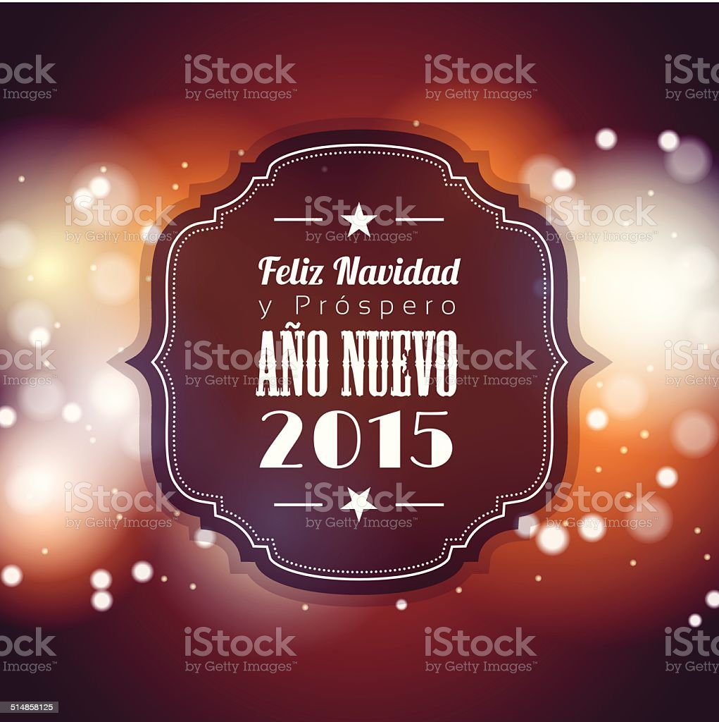 christmas and new year 2015 greeting card vector art illustration