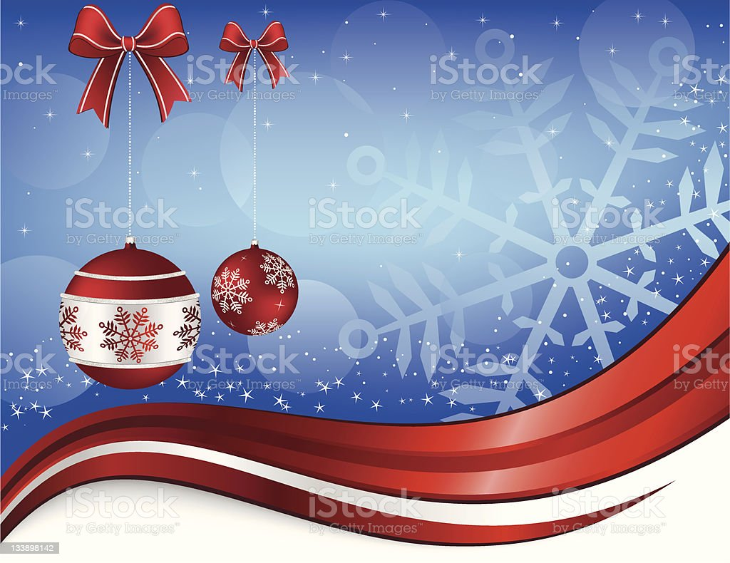 Christmas and New Year Backdrop vector art illustration