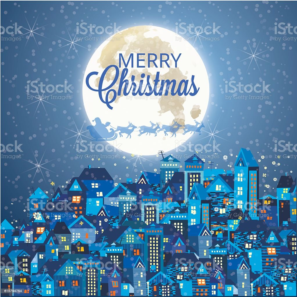 Christmas and new year decorated Christmas trees vector art illustration