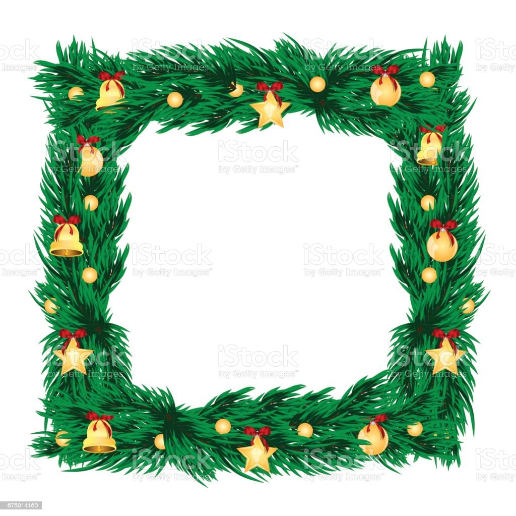 Christmas and New Year decoration. vector art illustration